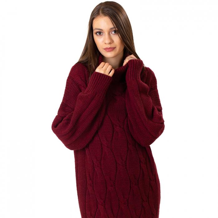 Pulover tricotat cu guler 6