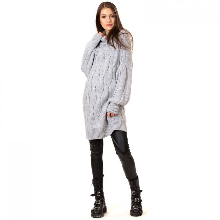 Pulover tricotat cu guler [4]