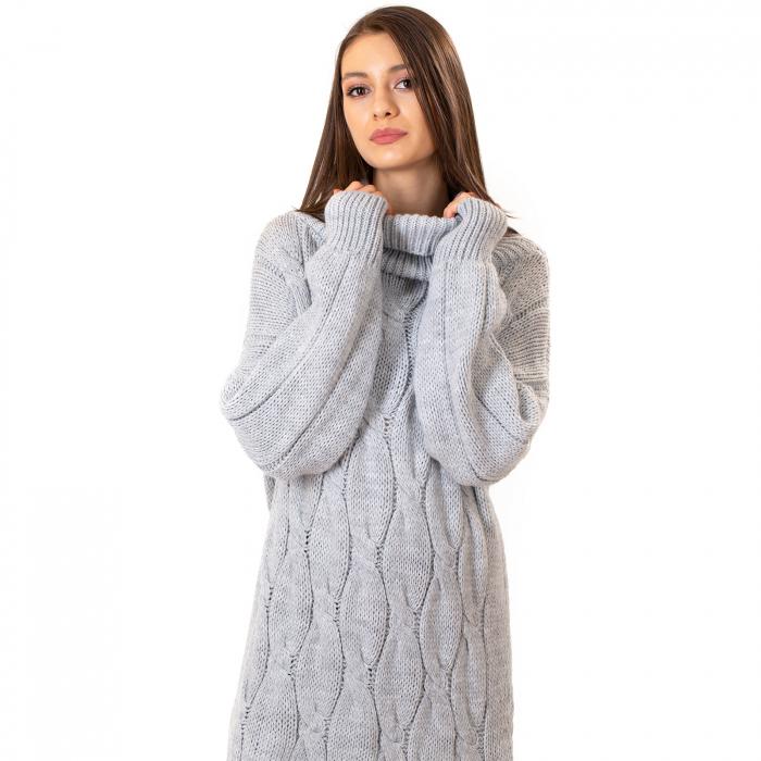 Pulover tricotat cu guler [0]