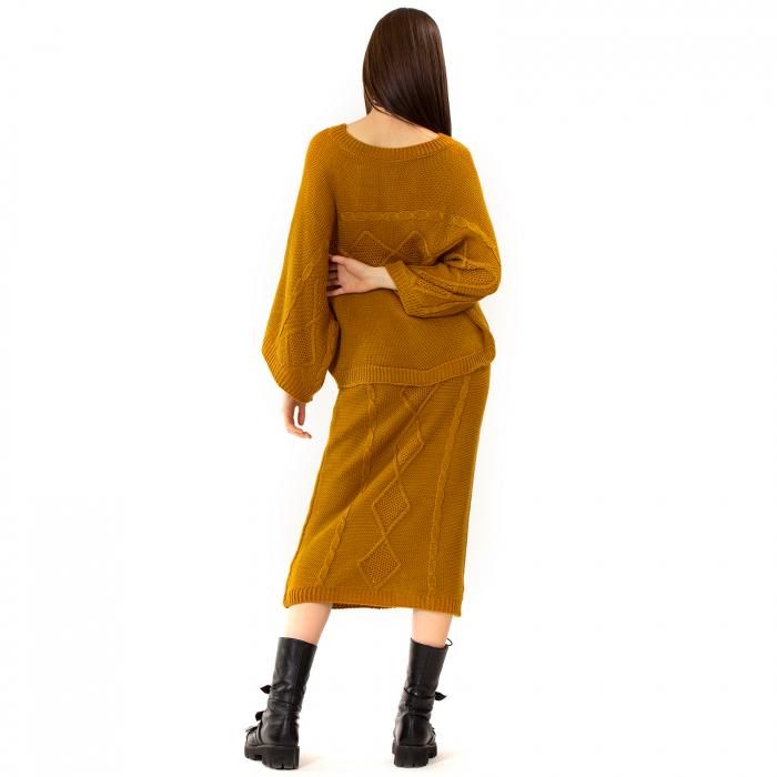 Compleu bluza tip fluture si fusta lunga [5]
