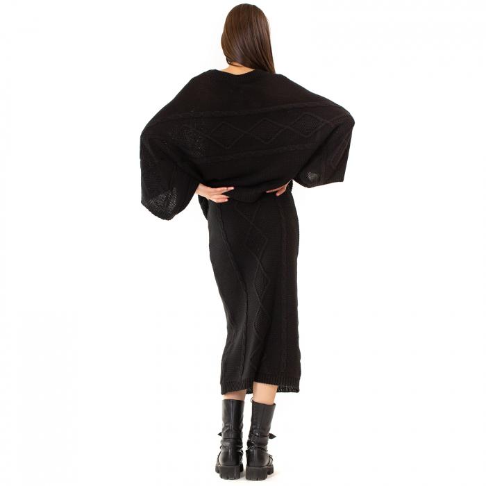 Compleu bluza tip fluture si fusta lunga 3