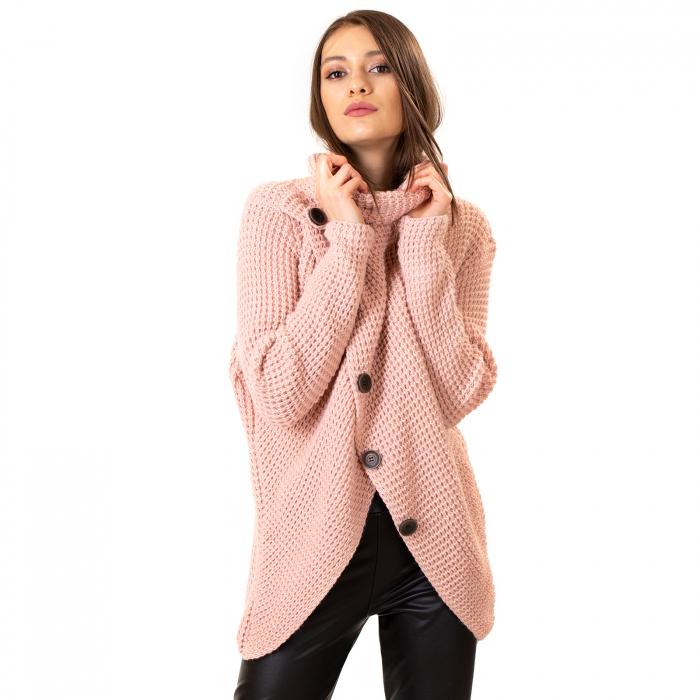 Pulover tricotat cu nasturi 4