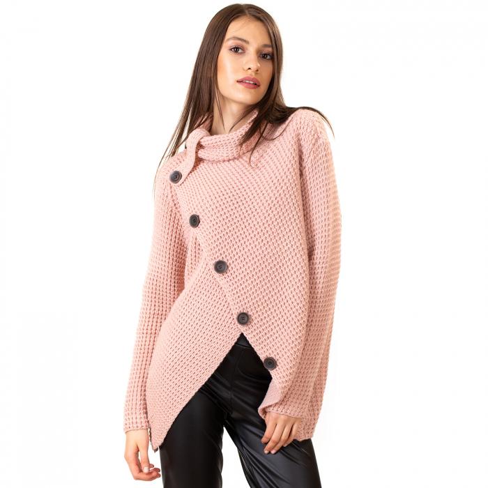 Pulover tricotat cu nasturi 7