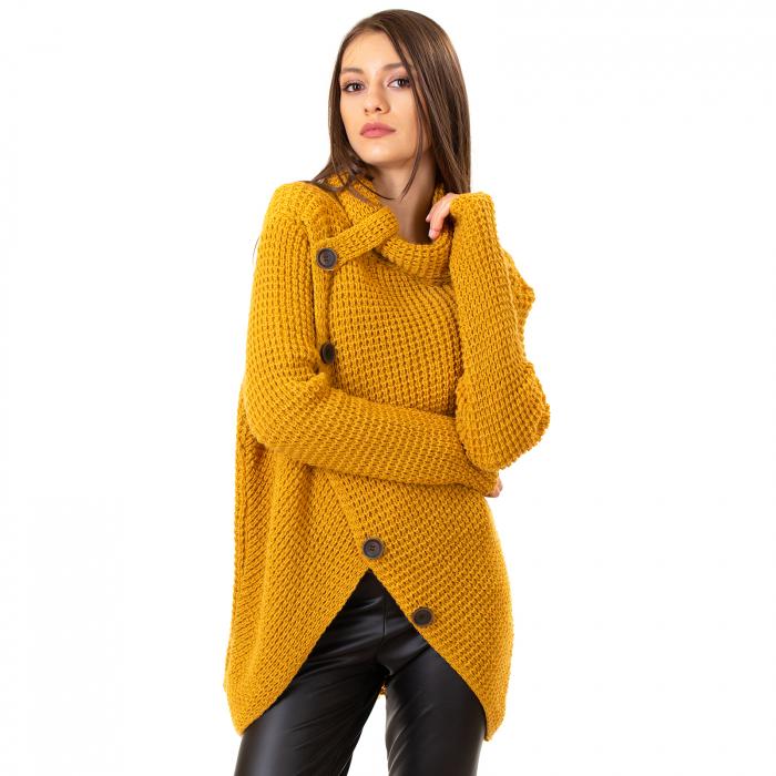 Pulover tricotat cu nasturi 6