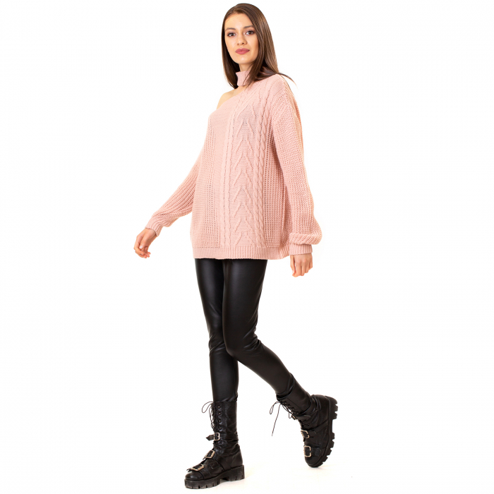 Bluza tricotata cu umarul gol [1]