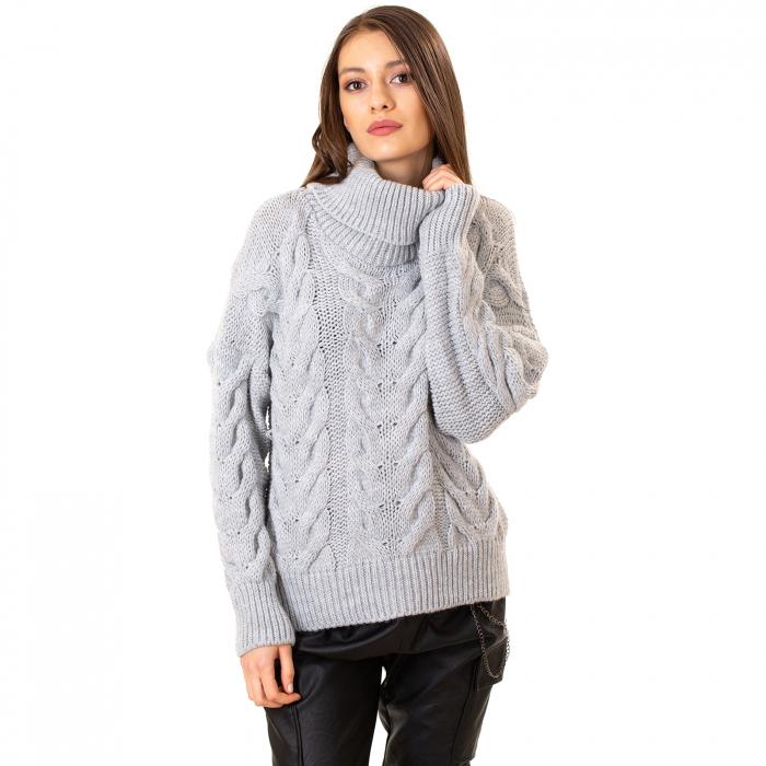 Bluza tricotata cu guler 4