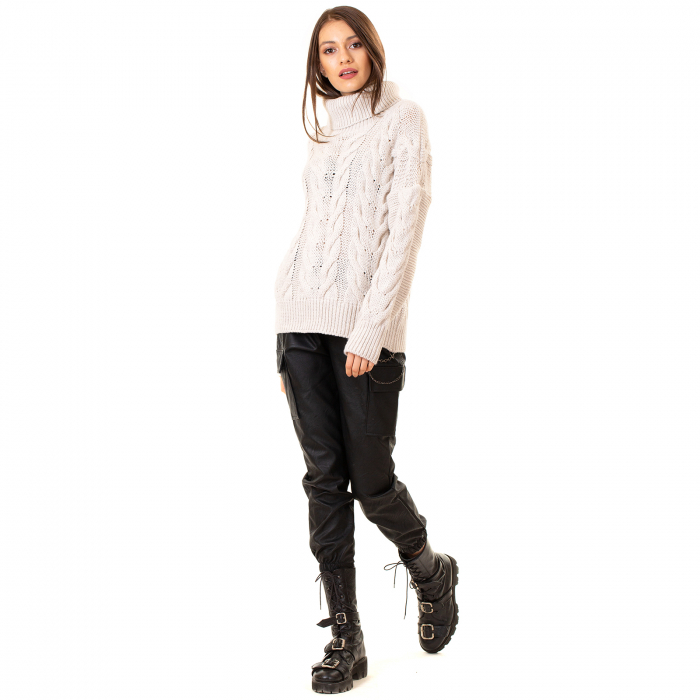 Bluza tricotata cu guler rol 1