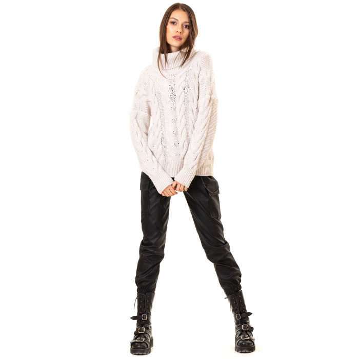 Bluza tricotata cu guler rol 2