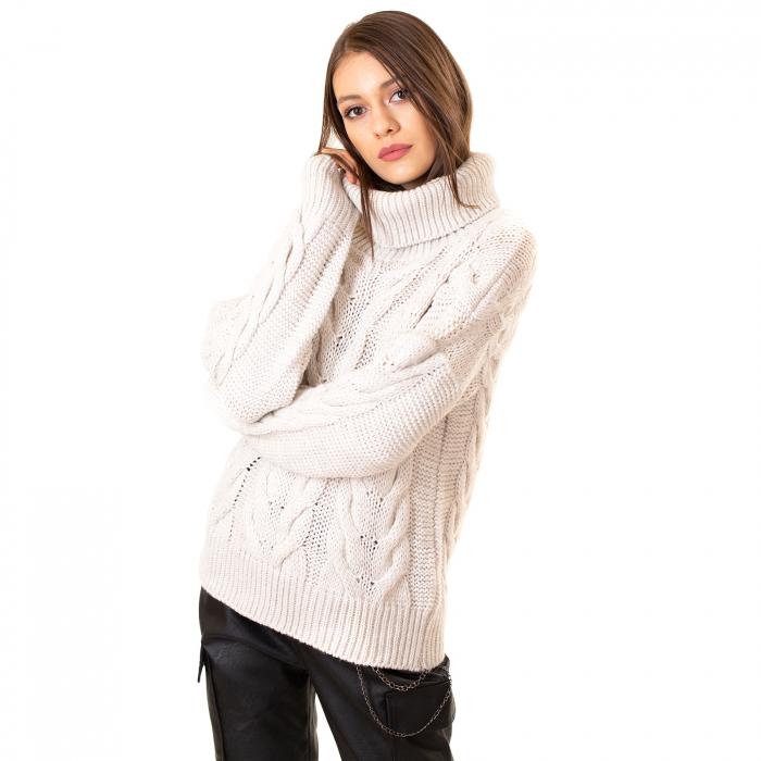 Bluza tricotata cu guler rol 6