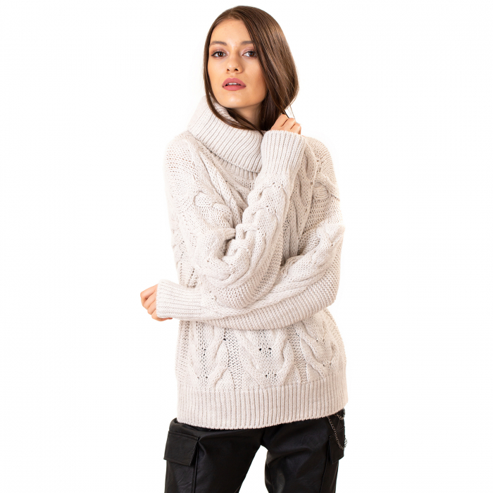 Bluza tricotata cu guler rol 7