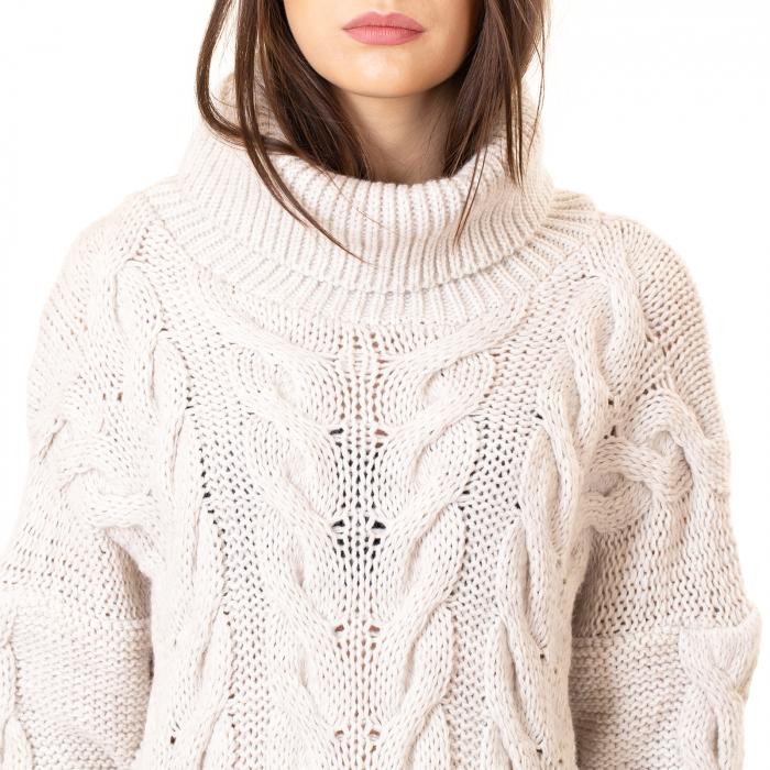Bluza tricotata cu guler rol 8