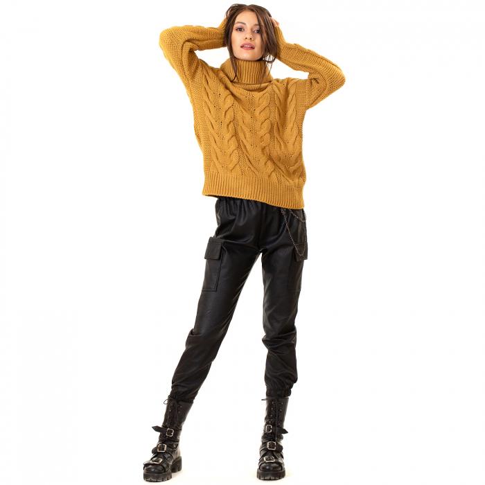 Bluza tricotata cu guler rol 5