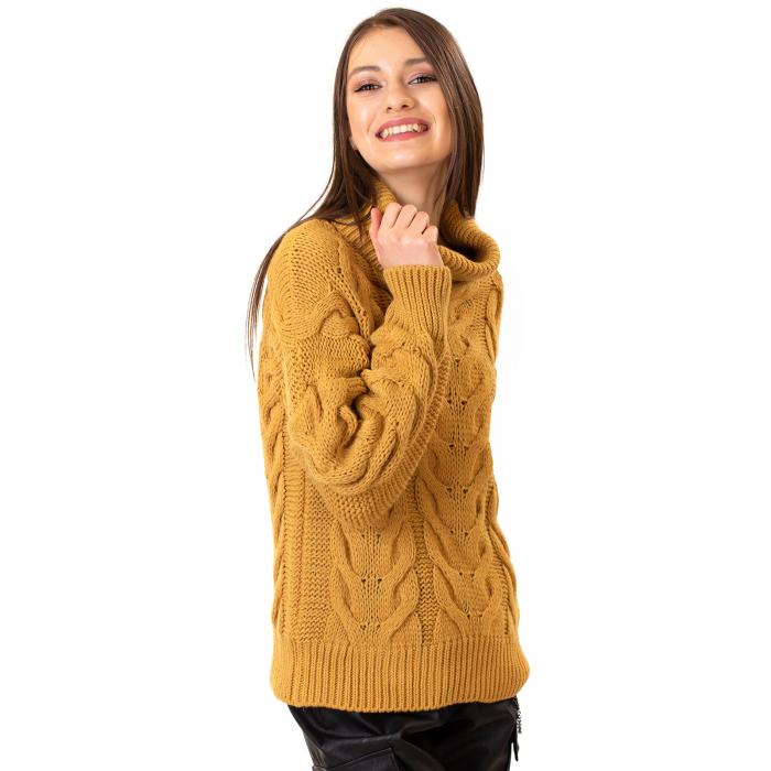 Bluza tricotata cu guler rol 3