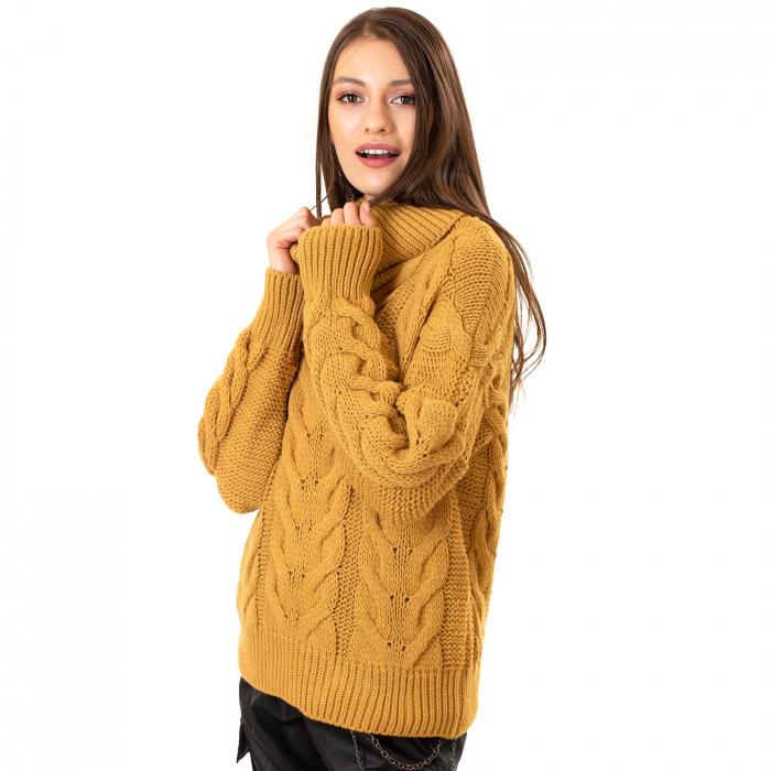 Bluza tricotata cu guler rol 4