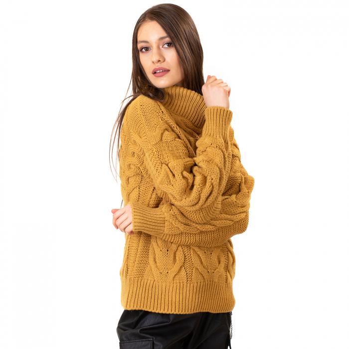 Bluza tricotata cu guler rol 0