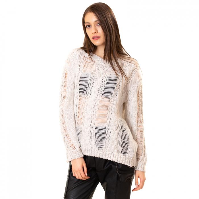 Bluza tricotata transparenta 0