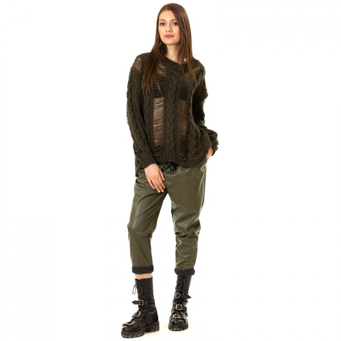 Pantalon piele ecologica cu buzunare 3