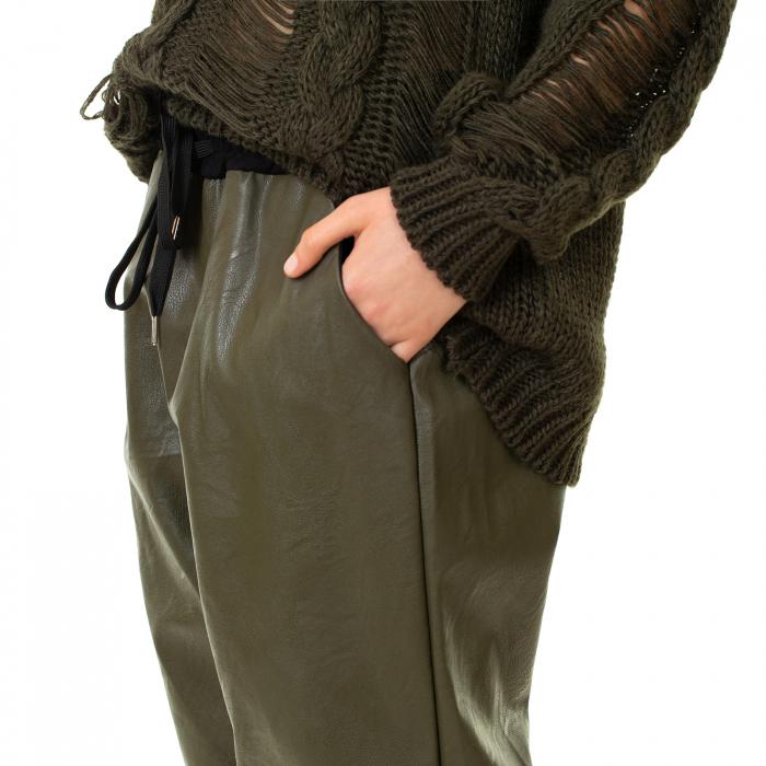 Pantalon piele ecologica cu buzunare 1