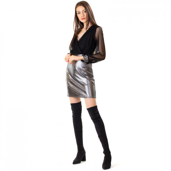 Rochie din voal si fibra metalica [2]