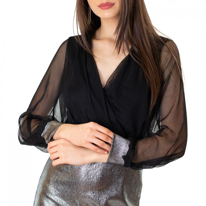 Rochie din voal si fibra metalica [9]