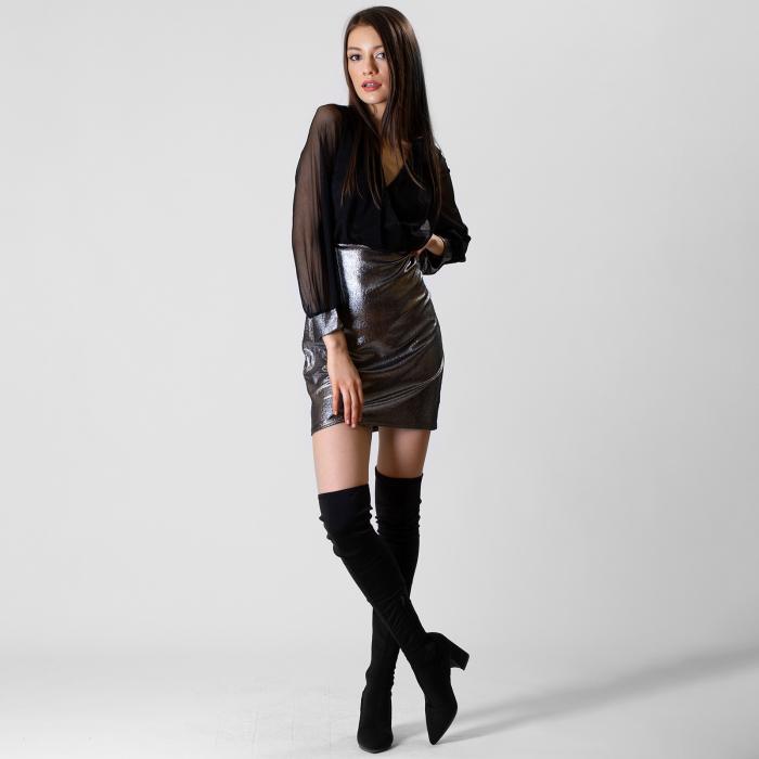 Rochie din voal si fibra metalica [1]