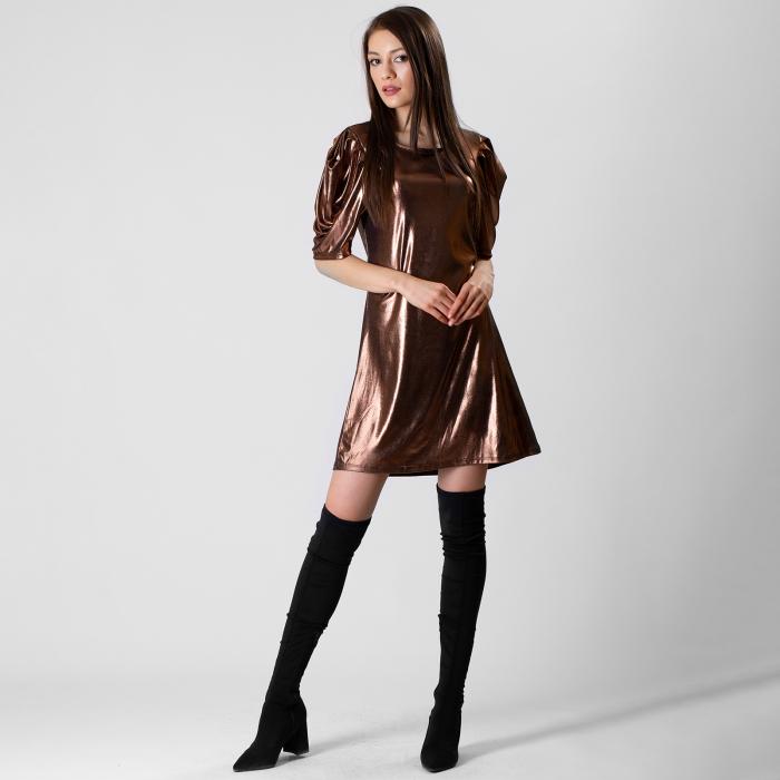 Rochie cu maneca incretita 8