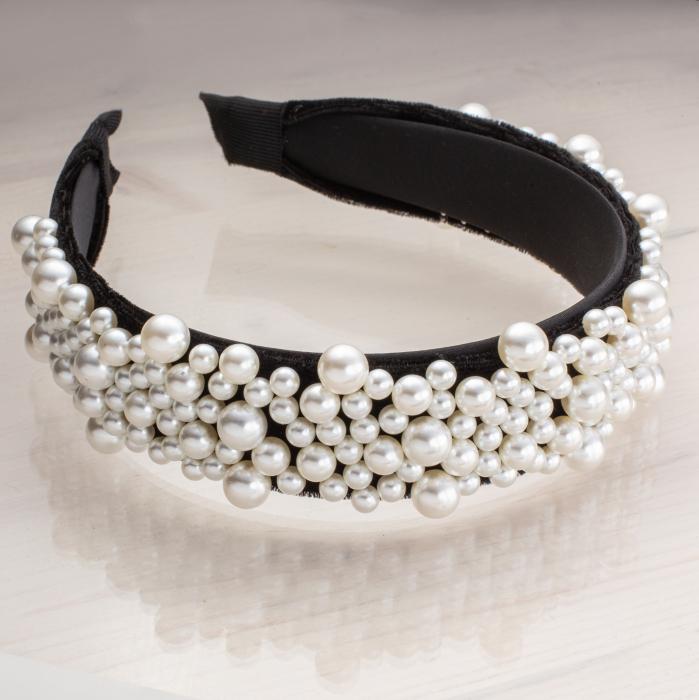 Bentita cu perle aplicate 0