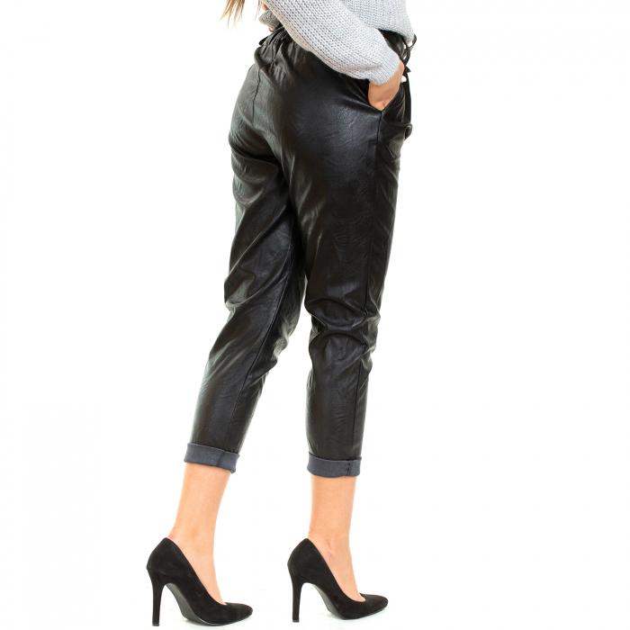 Pantalon piele ecologica , cu cordon 2