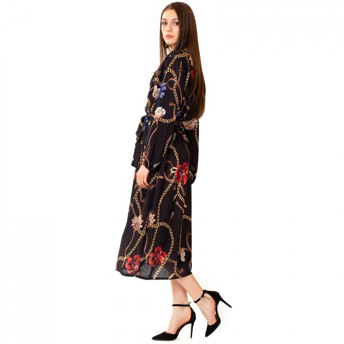 Rochie din voal cu imprimeu 2
