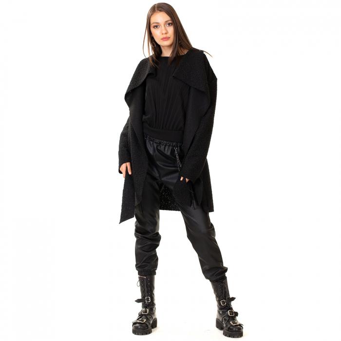 Palton scurt cu cordon in talie [3]