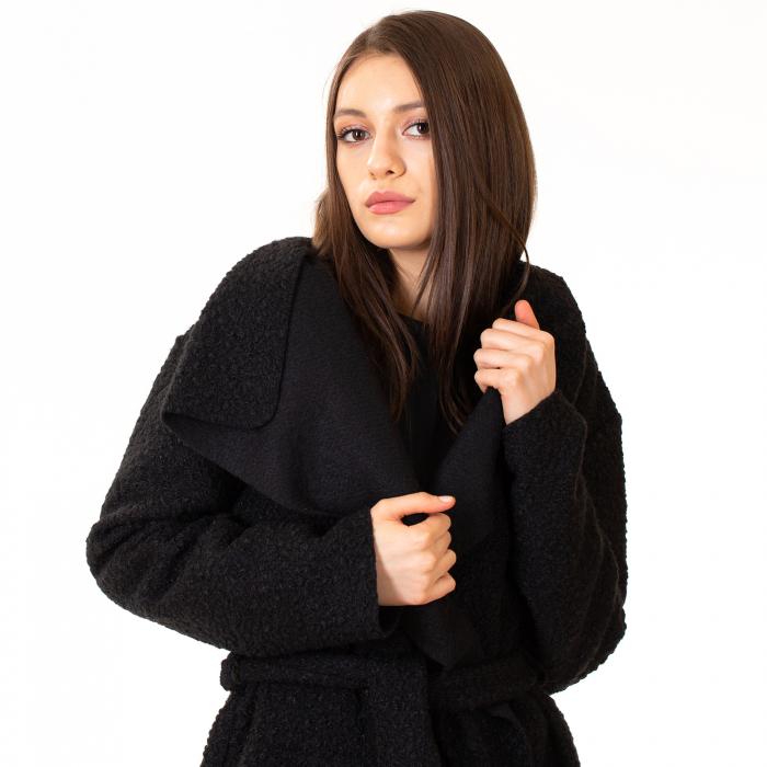 Palton scurt cu cordon in talie [0]