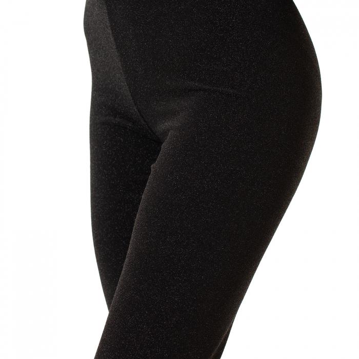 Pantalon tip colant cu sclipici 0