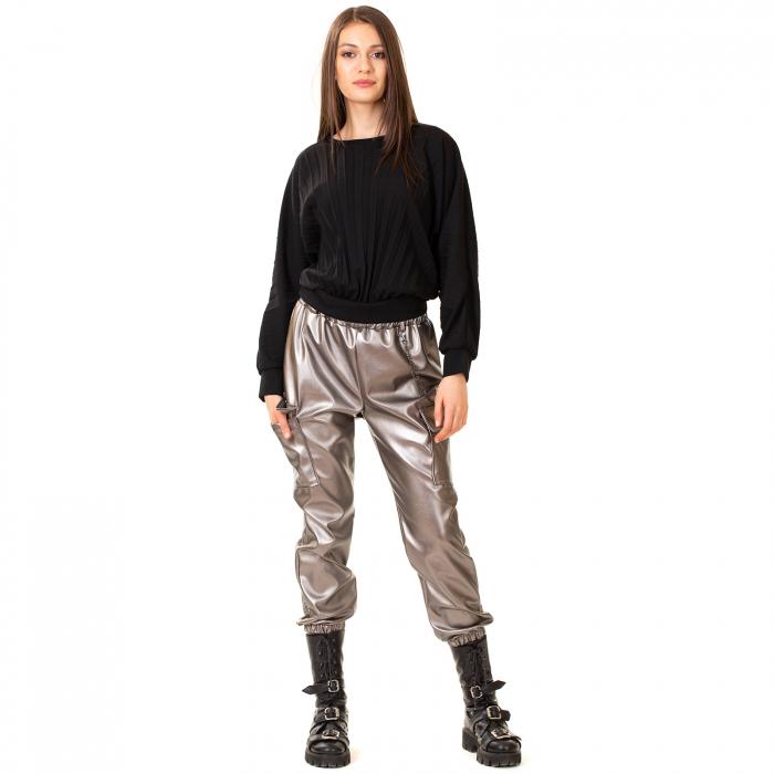 Pantalon piele ecologica cu lant [5]
