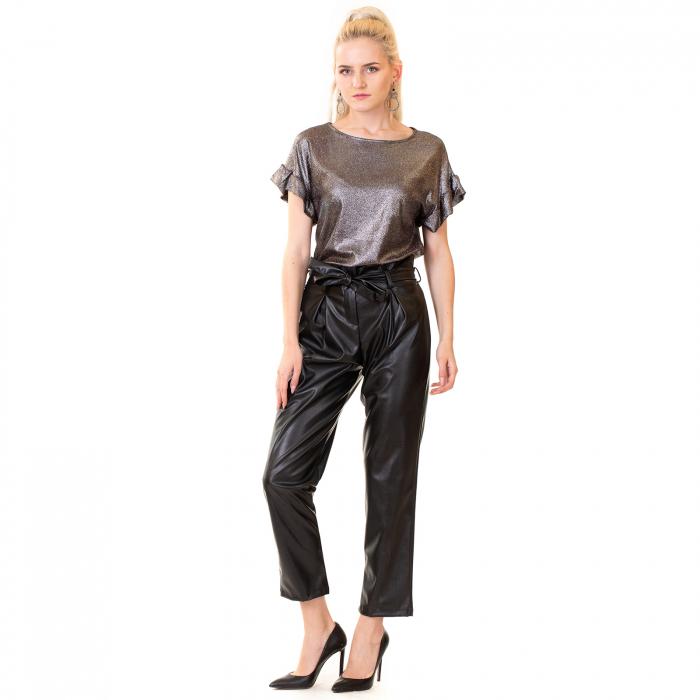 Pantalon piele ecologica , cu cordon 3