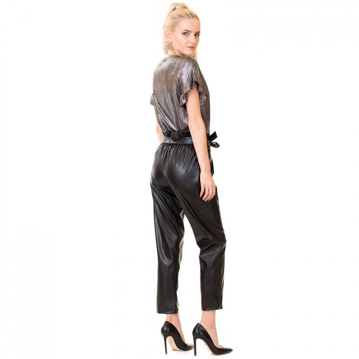 Pantalon piele ecologica , cu cordon 4
