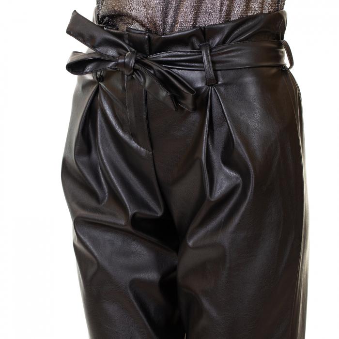 Pantalon piele ecologica , cu cordon 5