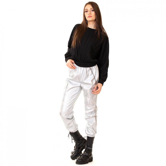 Pantalon piele ecologica cu lant 1