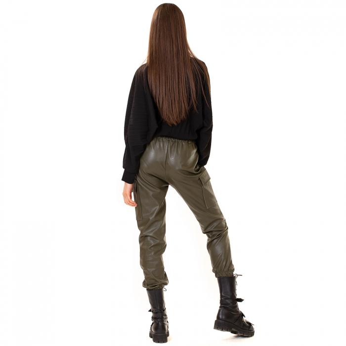 Pantalon piele ecologica cu lant 4