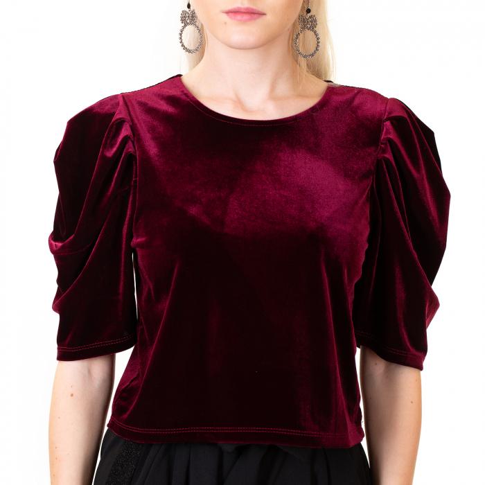 Bluza scurta catifea 0