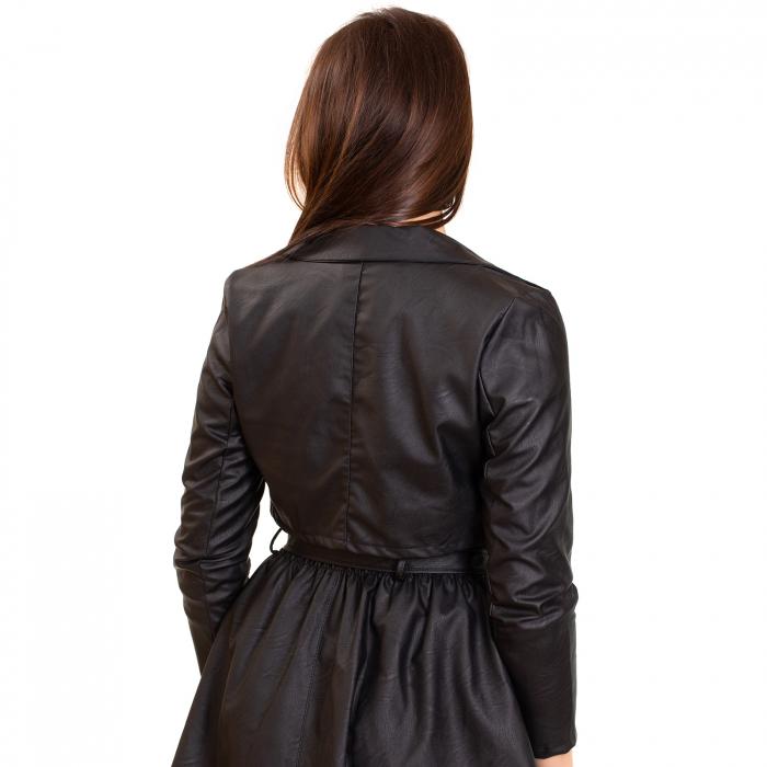 Jacheta scurta cu fermoar ,  din piele ecologica 1