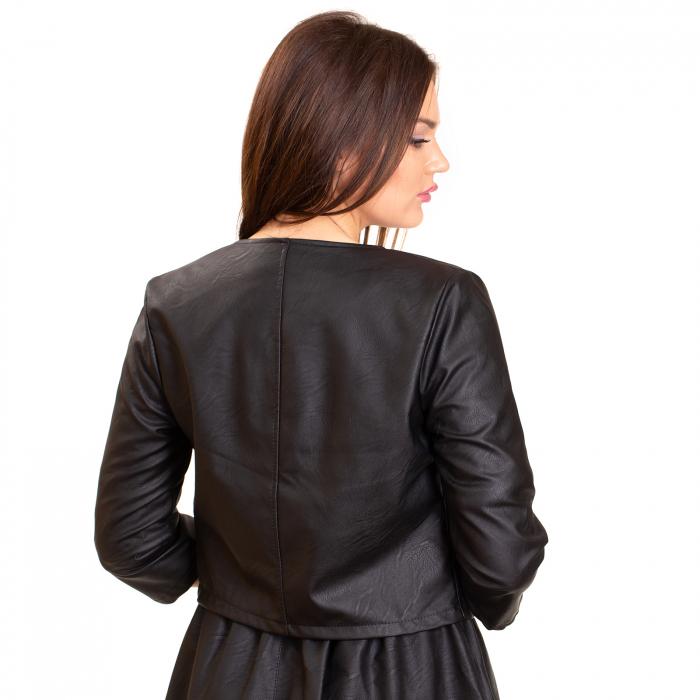 Jacheta scurta cu buzunare , din piele ecologica 2