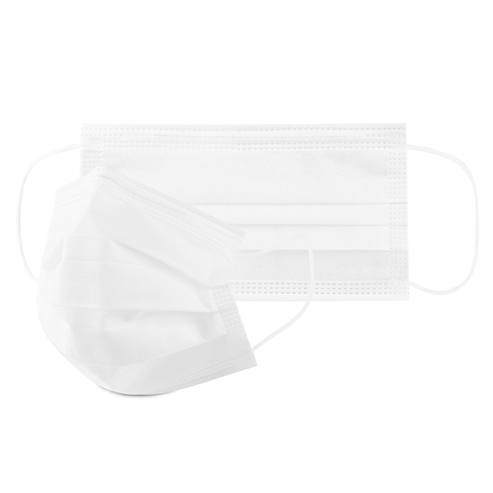 Masca de protectie civila de tip chirurgical FFP1    / ambalare *1 CUTIE 50 buc /  marca proprie AEA MEDICAL produs in ROMANIA / SIBIU -culoare ALB 0