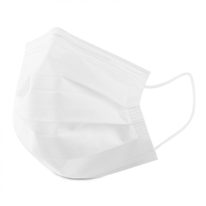 Masca de protectie civila de tip chirurgical FFP1    / ambalare *1 CUTIE 50 buc /  marca proprie AEA MEDICAL produs in ROMANIA / SIBIU -culoare ALB 1