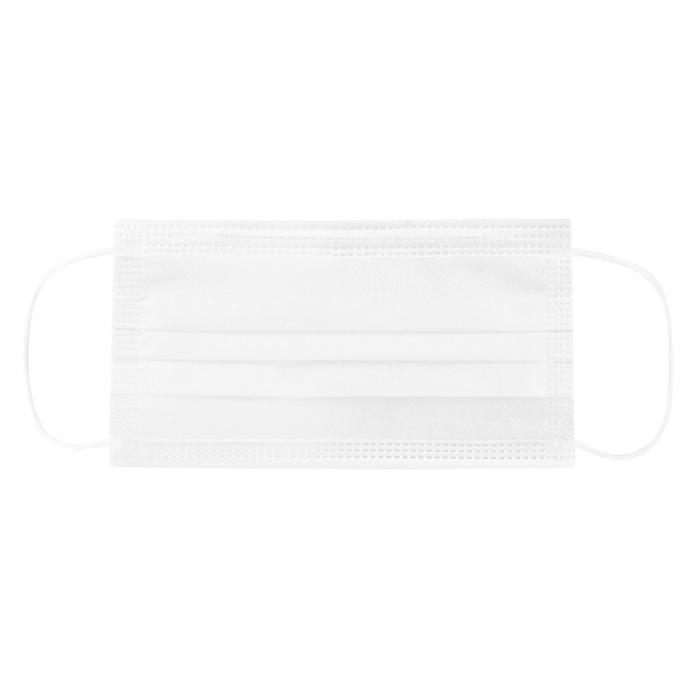 Masca de protectie civila de tip chirurgical FFP1    / ambalare *1 CUTIE 50 buc /  marca proprie AEA MEDICAL produs in ROMANIA / SIBIU -culoare ALB 2