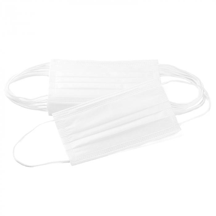 Masca de protectie civila de tip chirurgical FFP1    / ambalare *1 CUTIE 50 buc /  marca proprie AEA MEDICAL produs in ROMANIA / SIBIU -culoare ALB 3