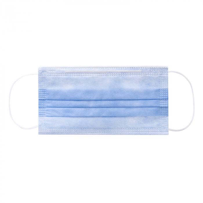 Masca faciala de  protectie de tip chirurgical FFP1    / ambalare *1 CUTIE 50 buc /  marca proprie AEA MEDICAL produs in ROMANIA / SIBIU -culoare MOV INDIGO [2]