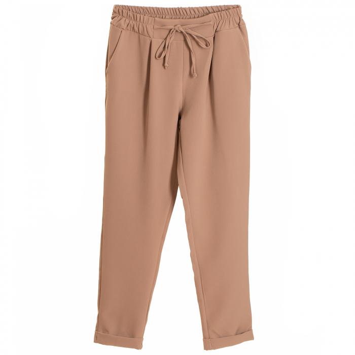 Pantalon usor conic , cu snur in talie si elastic [1]