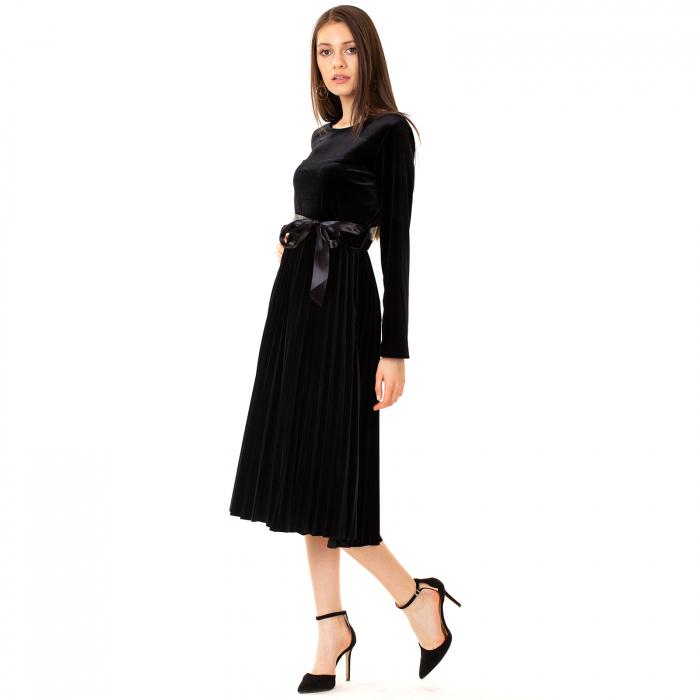 Rochie catifea cu maneca lunga 2