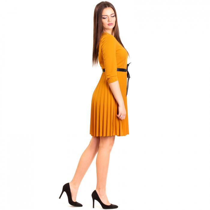 Rochie plisata cu cordon 1