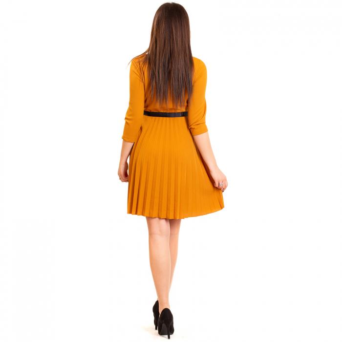 Rochie plisata cu cordon 2